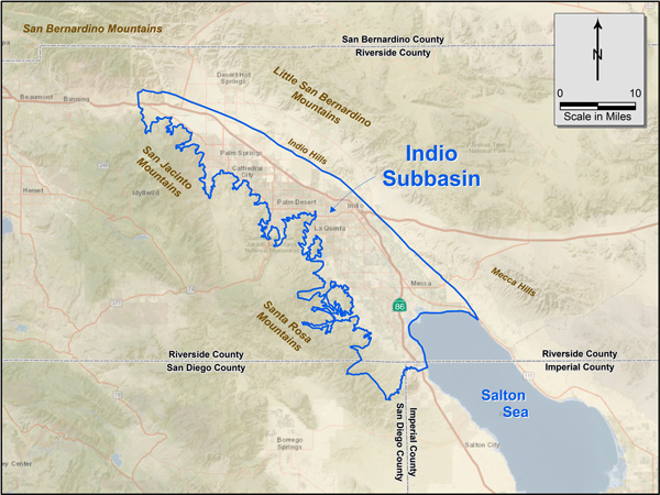 Figure 1. Indio subbasin regional map